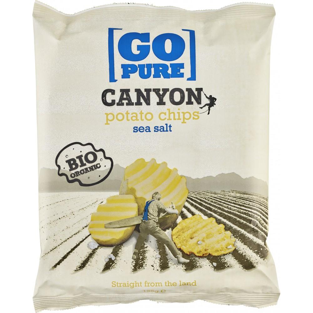 Chips-uri Canyon din cartofi bio cu sare de mare