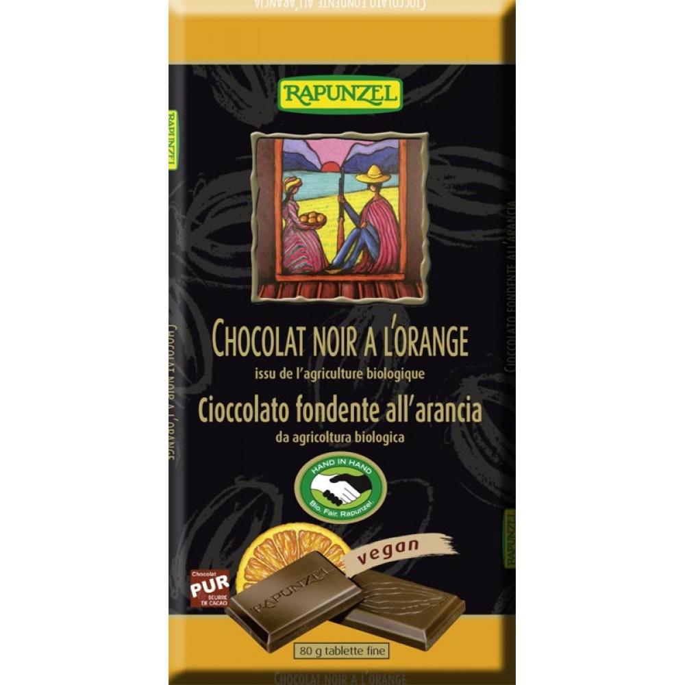 Ciocolata amaruie cu Portocale 55 % cacao VEGANA