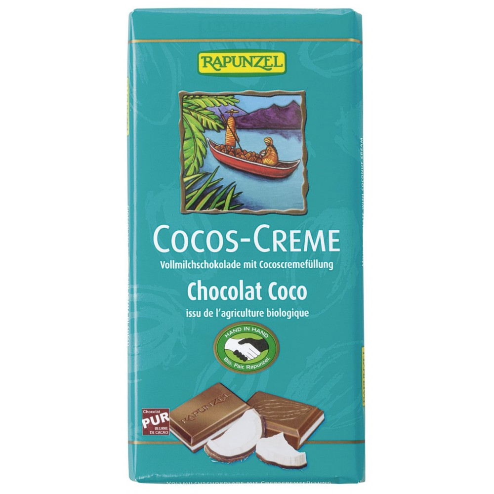 Ciocolata bio cu cremă de cocos HIH