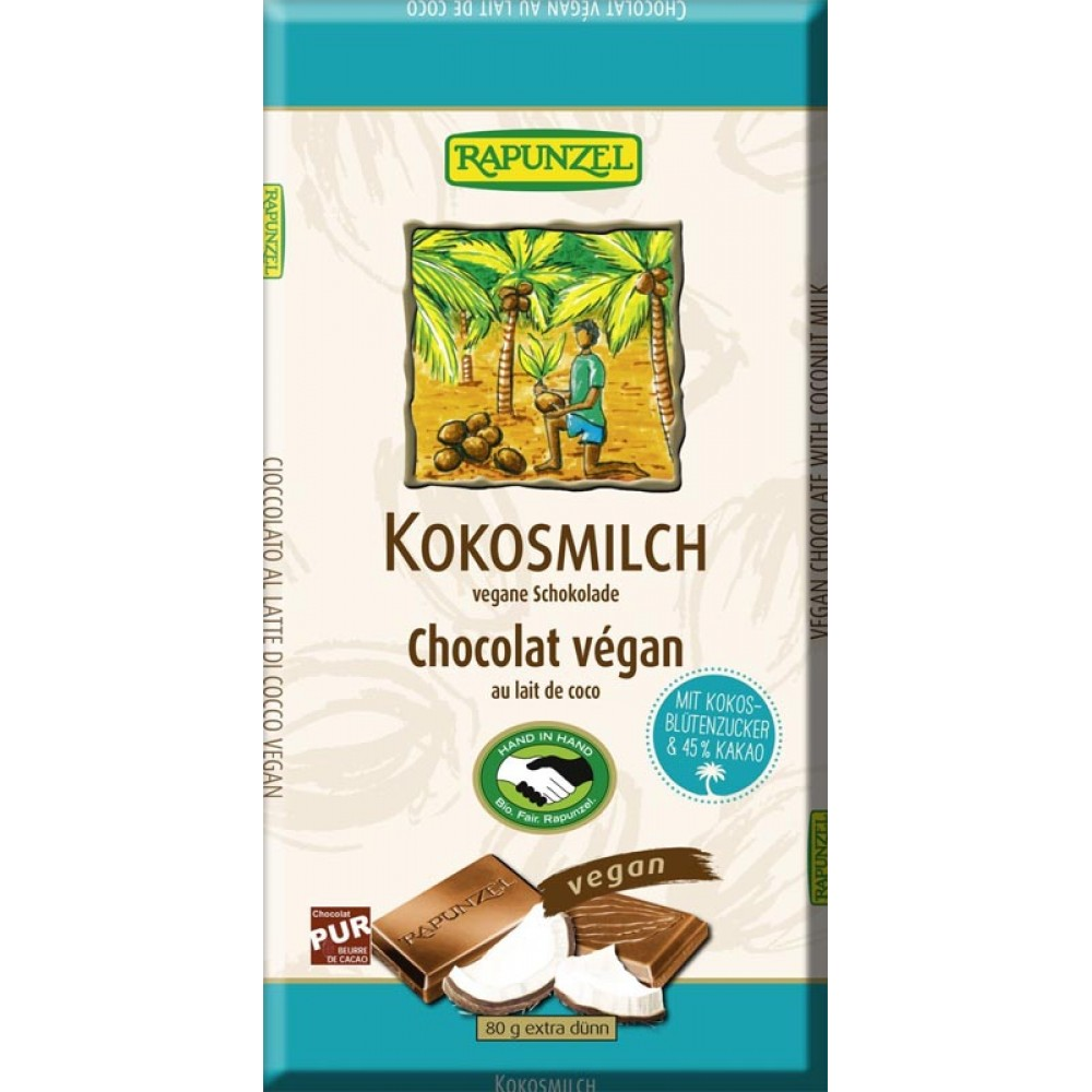 Ciocolata bio cu lapte de cocos vegana