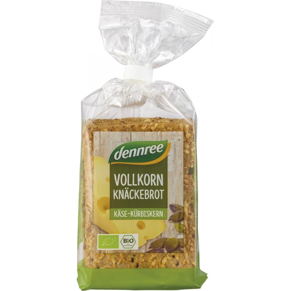 Crackers integrali cu branza si seminte de dovleac