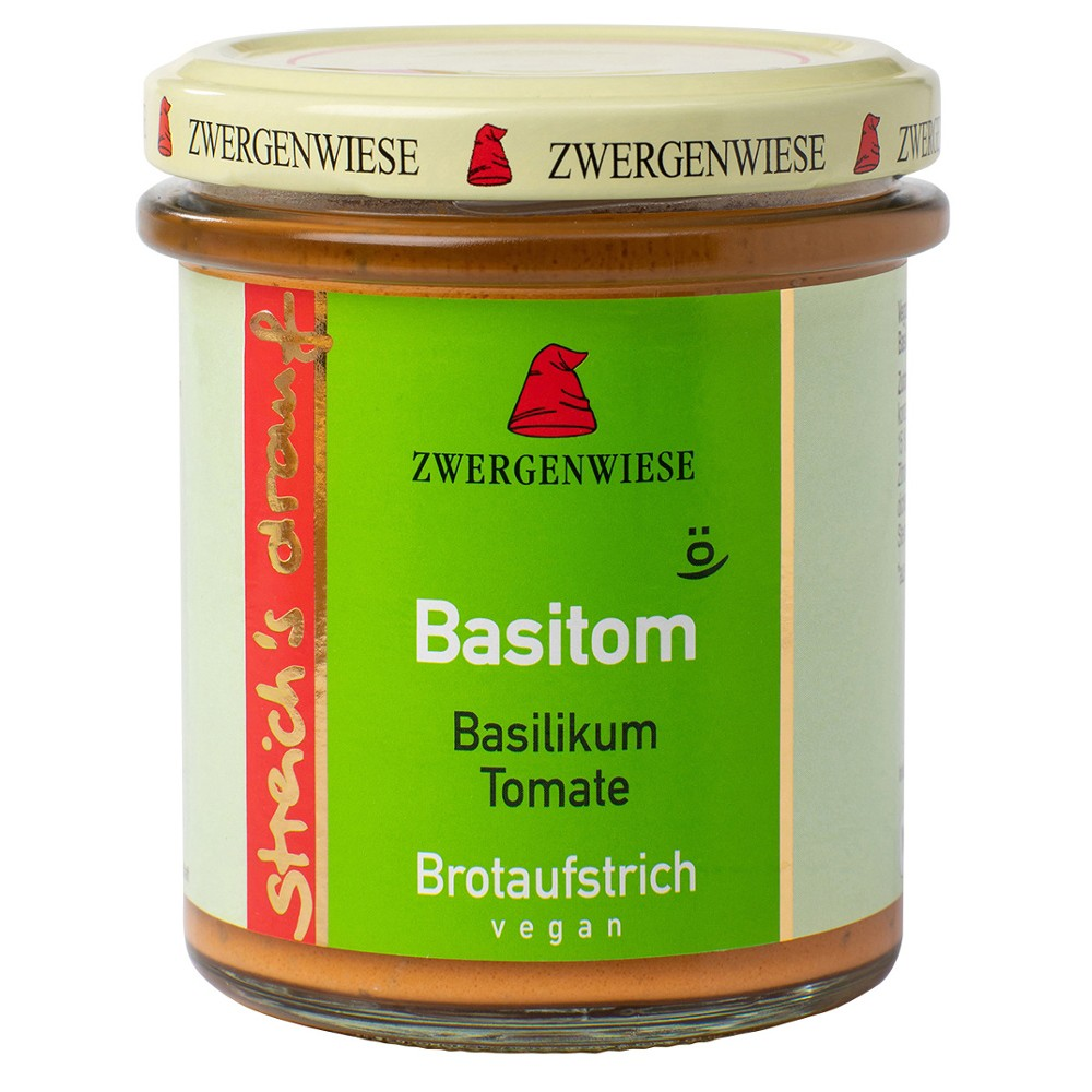 Crema tartinabila vegetala Basitom cu busuioc si tomate  FARA GLUTEN bio