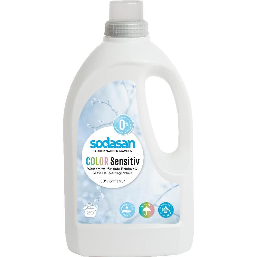 Detergent lichid bio pentru rufe colorate senzitiv