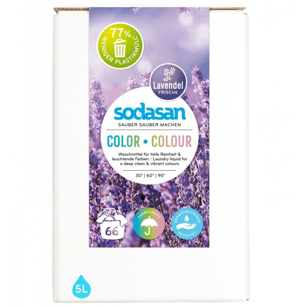 Detergent lichid pentru rufe colorate cu lavanda bag-in-box