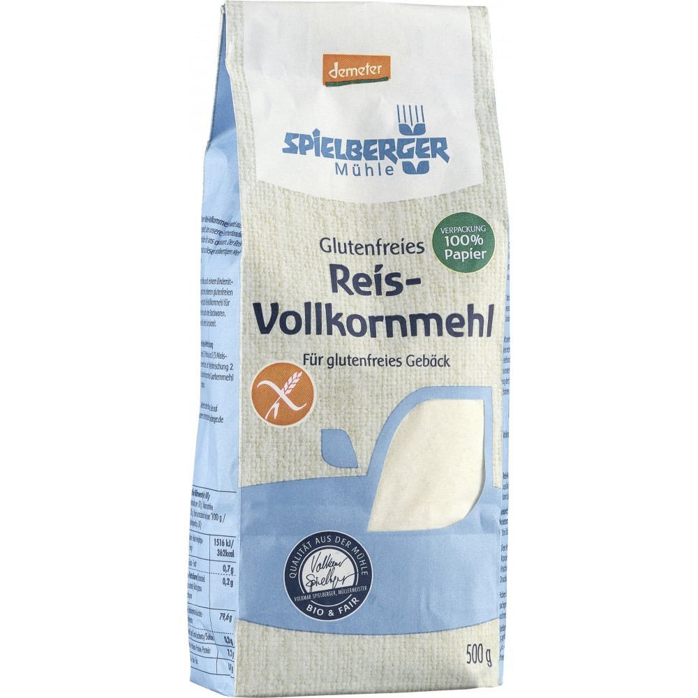 Faina de orez bio integral FARA GLUTEN Demeter