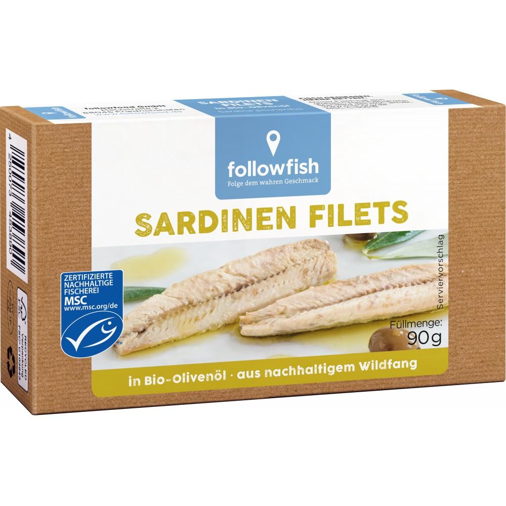 File de sardine in ulei de masline ecologic