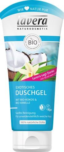 Gel de dus exotic cu cocos si vanilie