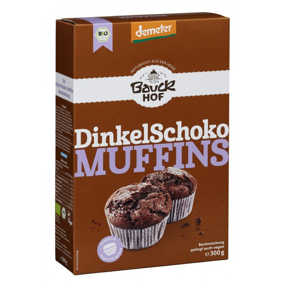 Mix din spelta pentru Muffins cu ciocolata Demeter