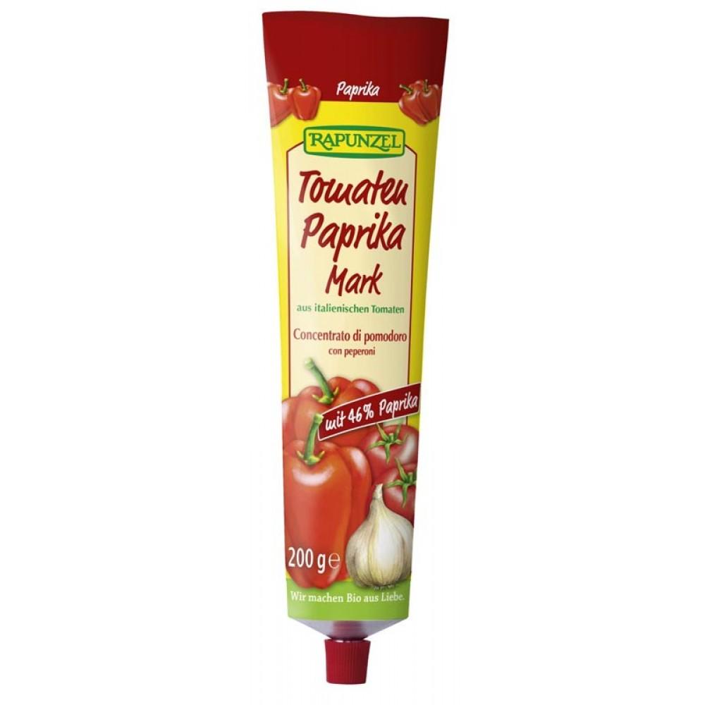 Pasta de tomate bio cu ardei, in tub