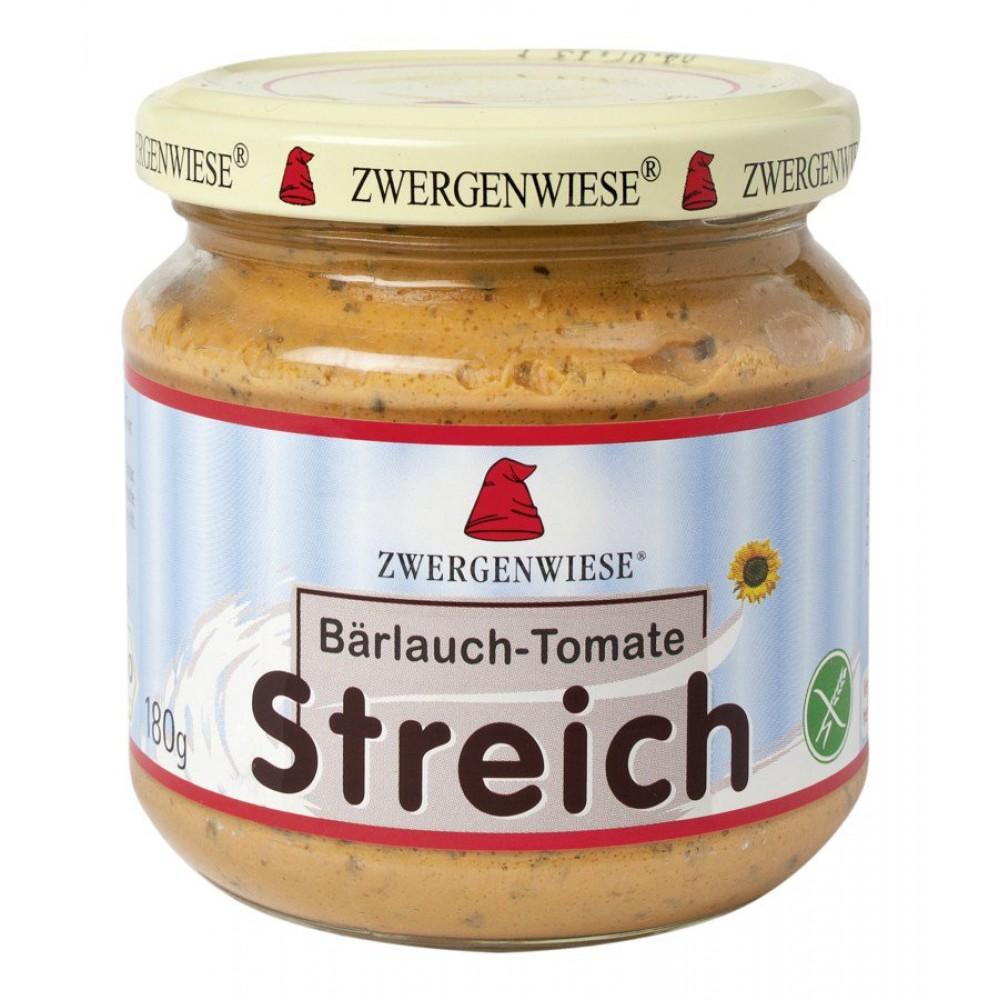 Pateu bio vegetal cu usturoi salbatic si tomate FARA GLUTEN