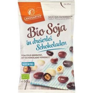 Boabe de soia in 3 tipuri de ciocolata