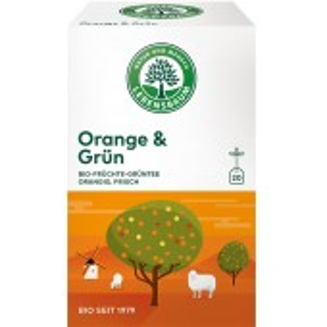 Ceai bio cu portocale si ceai verde