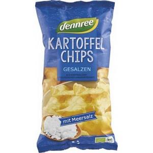 Chipsuri bio din cartofi cu sare