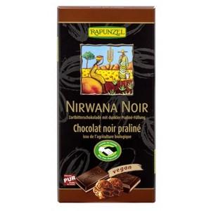 Ciocolata Bio Nirwana neagra cu praline 55% cacao
