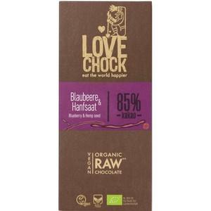 Ciocolata RAW VEGANA cu afine si seminte de canepa