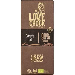 Ciocolata RAW VEGANA extreme dark 99% cacao