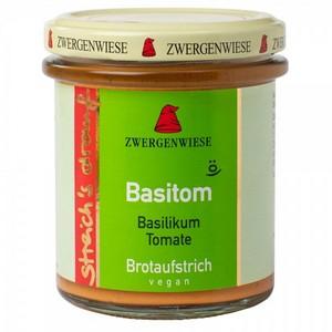 Crema tartinabila vegetala Basitom  cu busuioc si tomate