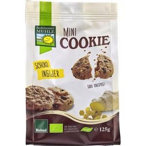 Mini biscuiti vegani bio cu ciocolata si ghimbir