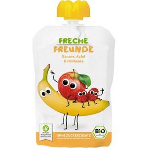 Piure ecologic de mere, banane si zmeura