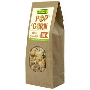 Popcorn bio cu ciocolata alba
