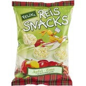 Snacks bio din orez cu mere si scortisoara FARA GLUTEN