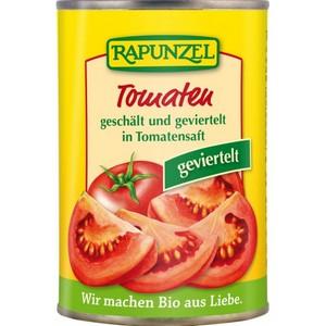 Tomate cojite şi tăiate în patru la doză